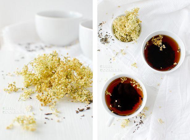 Suszone Kwiaty Czarnego Bzu I Napar Yummy Food Condiments
