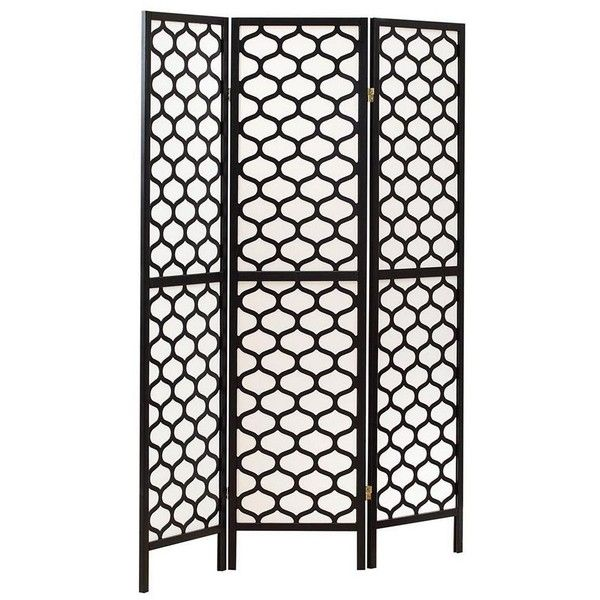 monarch specialties folding screen room divider vi 3 panel folding screen room d black home decor accents room dividers