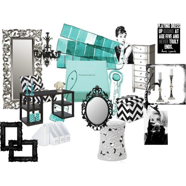Office Template  Tiffany Blue  Black/White Chevron