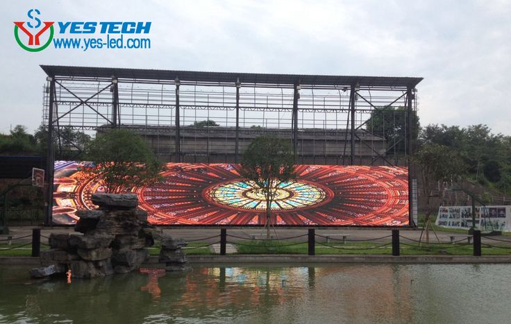 Aging test for 150sqms P5.9 outdoor led display in YESTECH, products details,  http://www.yes-led.com/ledxsp/897.html