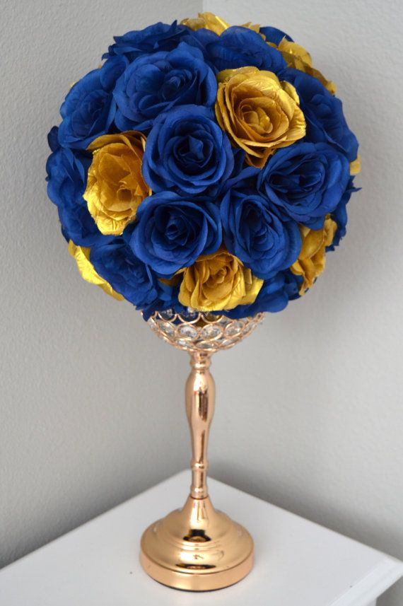 Gold Bell Centerpiece : Best images about wedding flower balls centerpieces on