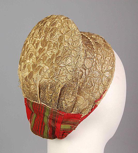 Hat Date: 1850–99 Culture: Russian Medium: Metallic, cotton, linen