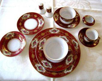 "RARE Craftsman China Hand Painted  ""Coronation"" Pattern Dinnerware Set - 148 Pieces - Never Used"