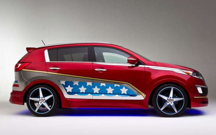 kia superhero cars wonder woman | Wonder-Woman-Kia-Sportage-side-view Photo on March 27, 2013 #347961 ...