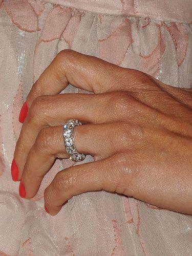 BROOKE BURKE Brooke Burke celebrates eternal love with an endless circle of bright diamonds.