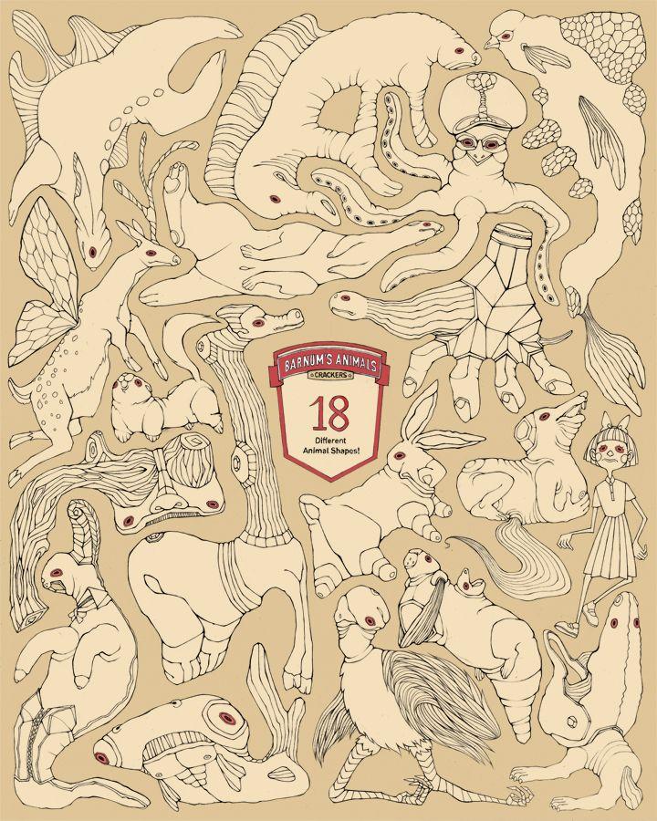 малина-интермедия:  Барнума Животных Крекеры Видимо есть 18 различных животных форм в Барнума в сухари. У меня такое впечатление, что эти кр...