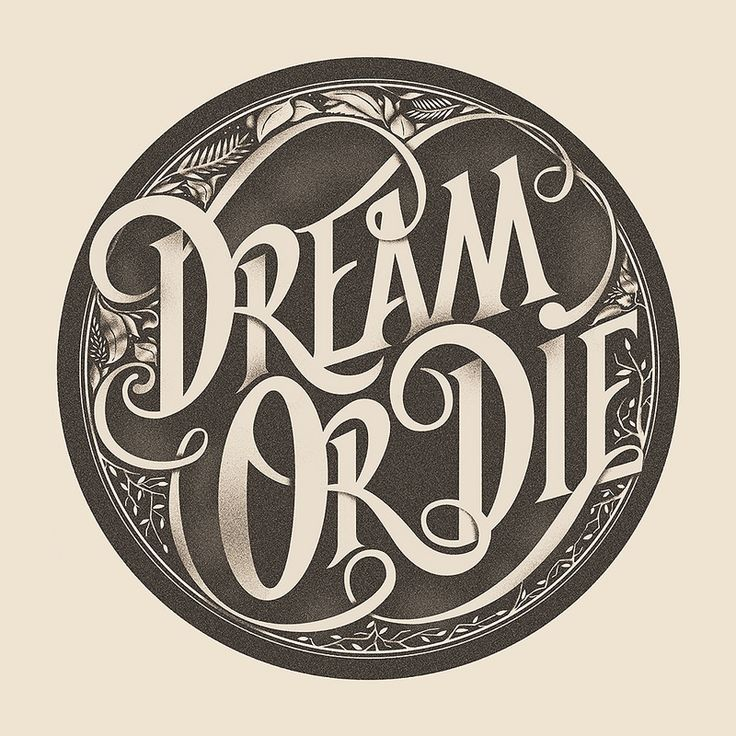 Dream or Die by sepra4life #type #typography #design