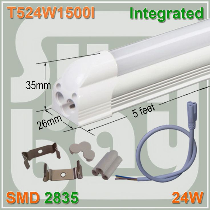 30-165 Pack LED Integrated Tube T5 Light 5FT 24W Fluorescent Lamp Replacement #Affiliate