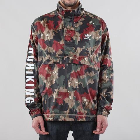#AdidasOriginals #PharrellWilliams Hu Hiking Half Zip Camo Windbreaker Jacket – #UrbanIndustry #Adidas #blackfriday