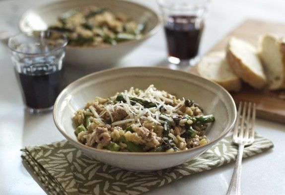 Sausage and Asparagus Risotto | eat :: grains | Pinterest