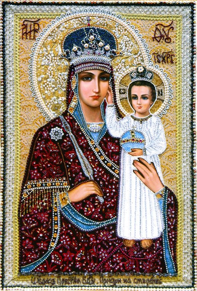 "Шамордино, вышитые иконы монастыря.""Призри на смирение"" икона Божией Матери. http://www.vidania.ru/monastery/shamordino_vyshitye_ikony_monastyrya.html"