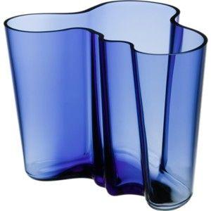 Alvar Aalto -kokoelmaSuomi 100 Maljakko, 160 mmultramariinin sininen,