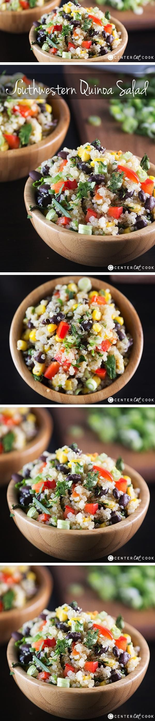 SOUTHWEST QUINOA SALAD similar to the Whole Foods version with a lime dressing! Clean eating never tasted so good!
