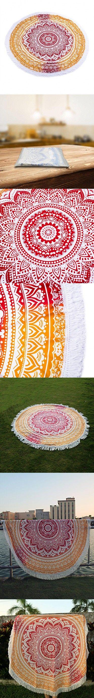 Popular Handicrafts Round Beach Throw - SENYANG Mandala Tassel Fringe Tapestry, Yoga Mat, Picnic Mat , Table throw, Table Cloth, Picnic Blanket ShawlBest Choice for Beach Travel and Home Decor