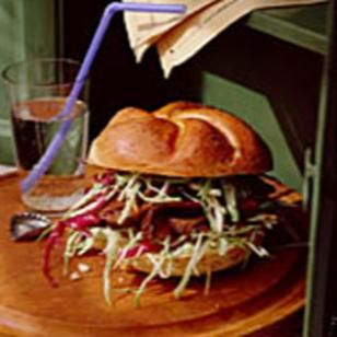 Barbecued Pork & Coleslaw Sandwiches Recipe