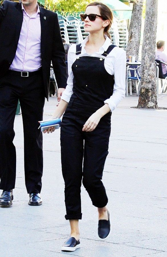 Emma Watson stepped out in a casual yet preppy ensemble // #StreetStyle
