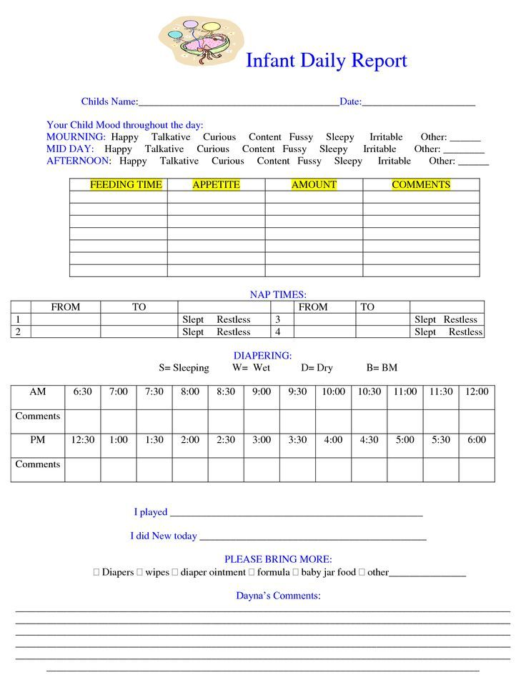 child care daily routine template - 26 best images about daily notes on pinterest day care