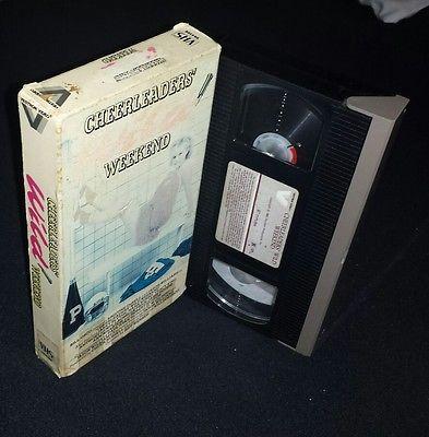 VHS CHEERLEADERS WILD WEEKEND.  KRISTINE DEBELL HOT 1985 VESTRON VIDEO.