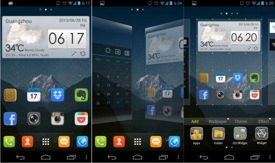 Скачать бесплатно русский GO launcher EX для Android