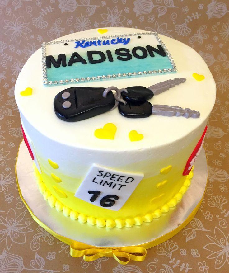 Geschenk Geburt Drivers License Sweet 16 Cake Sweet 16