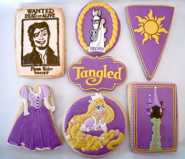 Tangled (Rapunzel) Cookies