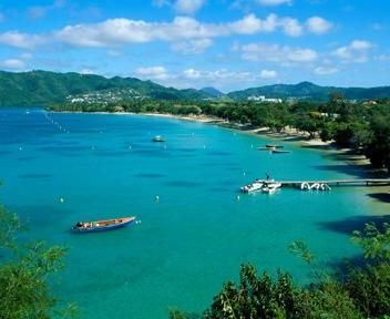 #Martinique. Marvelous from - above view of Martinique.
