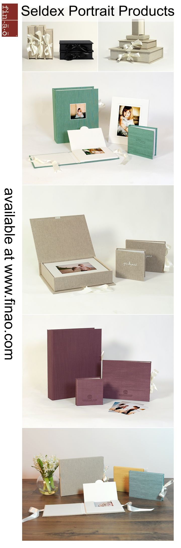 Great products for portrait photographers available at Finao Albums | Seldex Artistic Albums | www.finao.com