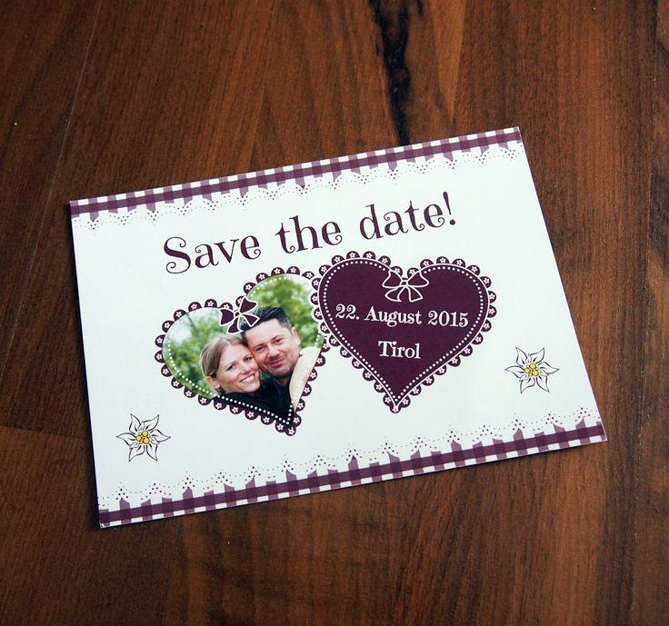 Save The Date Im Trachten Stil | Einladung | Pinterest | Trachten,  Hochzeiten Und Einladungen