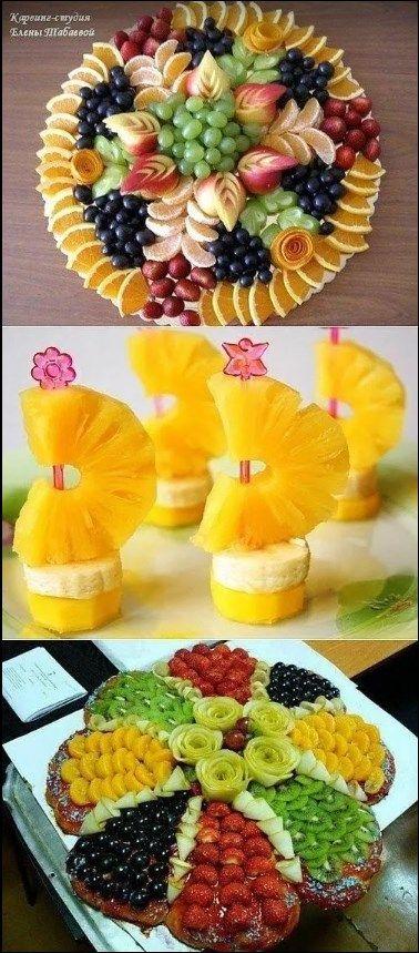 Les fruits. Voilà ce que on peut faire avec. 🥝🍇🍊🍌🍍🍎🍏🍐…