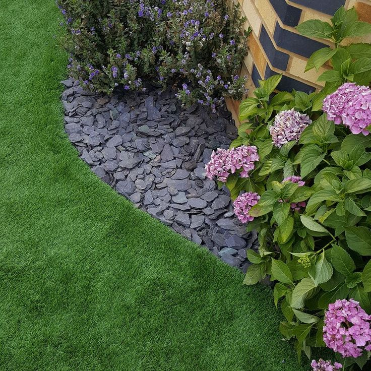 Natural looking and feeling artificial grass will be a perfect finish for your flower beds.