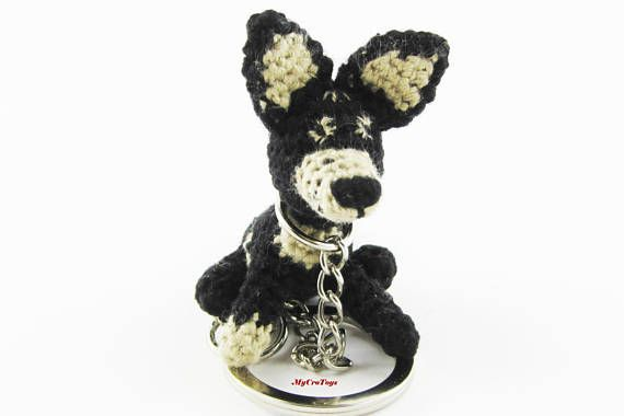 A funny crochet mini dog toy is perfect gift used as keychain. Original pocket gift. Lenght ~ 4-5 cm This is a made to order item and may take up to 5 days for processing before shipping. Materials - 100% cotton yarn and stuffed with polyester fibrefill. If you have questions contact me.