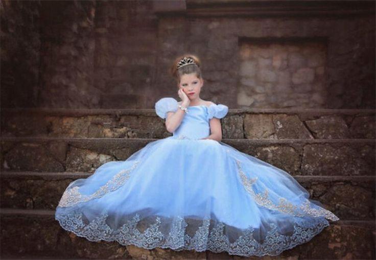 Prinsessen jurk met sleep