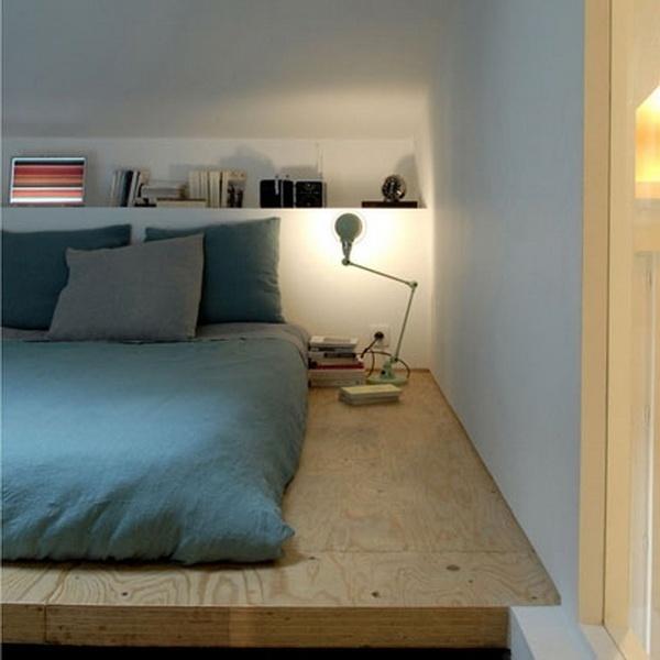 minimalist bedroom decorating of japanese design the bed is placed on a wooden platform - Japanese Design Bedroom