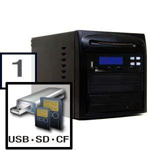 SySTOR 1 to 1 CD DVD Duplicator + USB/SD/CF/MS/MMC Multi-Format Flash Memory Card Backup Tower Produplicator http://www.amazon.com/dp/B001D8LB74/ref=cm_sw_r_pi_dp_FhxUub0K0NPMT