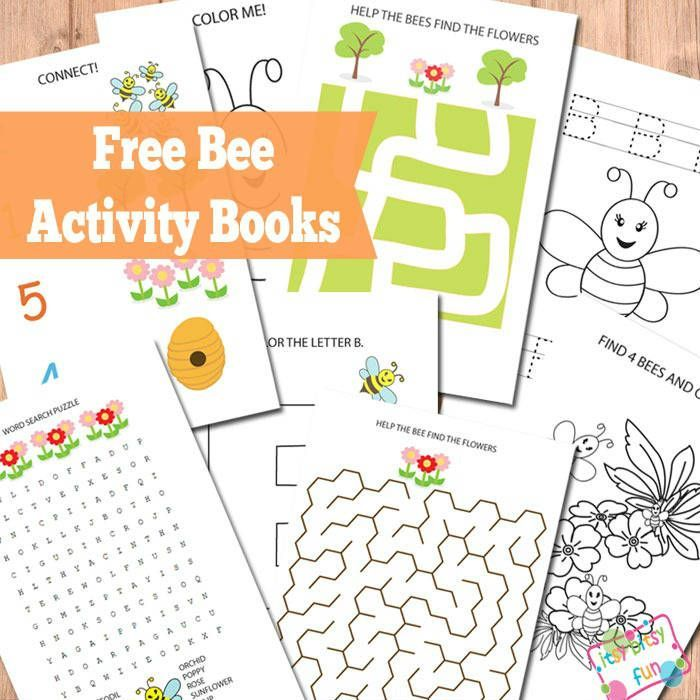 Free Printable Bee Activity Books (Worksheets)