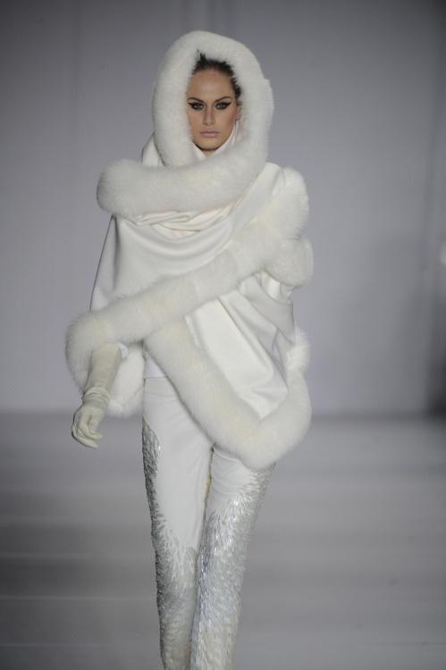 White fur shawl Yes Please !!