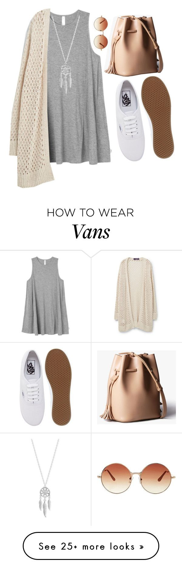 """""""Dress and vans... Hm...It is look like interesting!"""" by slenderman-o on Polyvore featuring RVCA, Violeta by Mango, Vans, Topshop and Lucky Brand"""