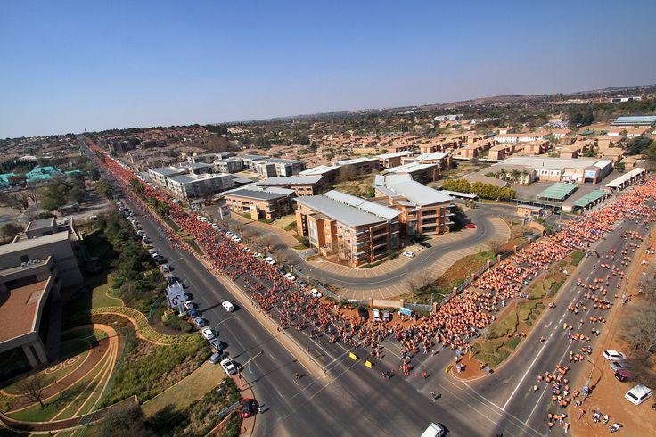 Aerial view of the Spar Ladies Race day venue