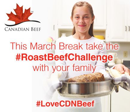 Take #RoastBeefChallenge with your family this March break and don't forget to use Canadian Beef