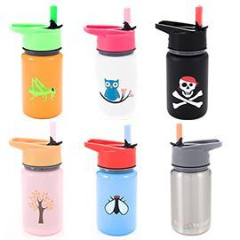 The best stainless steel straw bottle for kids. $15.95 #mightynest