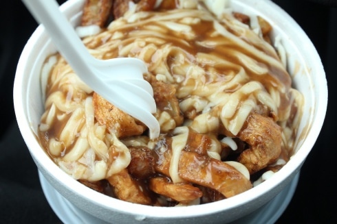 One of the best things about Timmins, Ontario.. Chez Nous Poutine!! What I'd do for one of these right now!