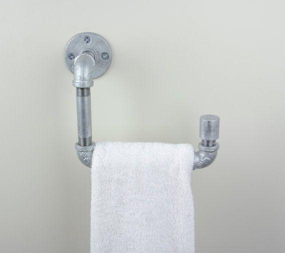 Hand Towel Holder Bathroom Galvanized Iron Pipe Bar