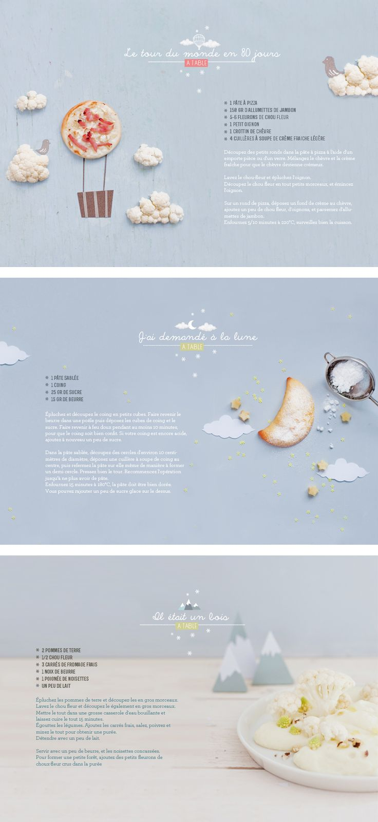 #graphic #design #editorial #food #story #photography #idea #cleaver Histoires gourmandes pour enfants sages