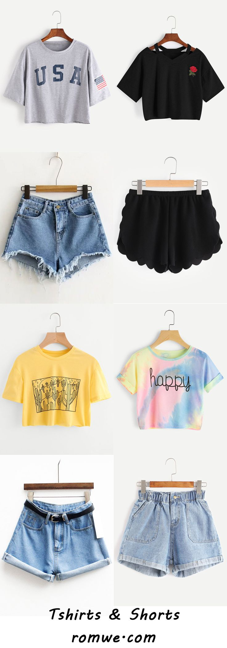 Summer Must -have - T shirts and Shorts from romwe.com