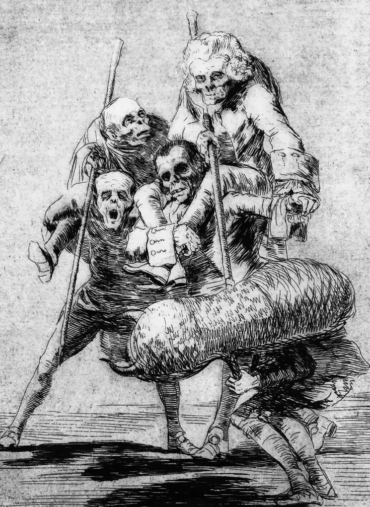 Francisco Goya: Now One, Now Another, Los Caprichos plate 77 (1799) etching and aquatint
