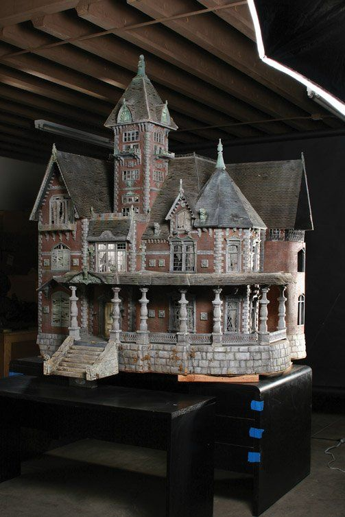 """Crypt Keeper"" haunted house miniature made by artisans at Boss Film Studios for Tales from the Crypt. Used for the opening main title sequence of all 93 episodes."