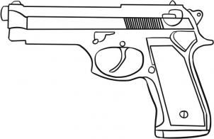 How to Draw a Simple Gun, Step by Step, guns, Weapons, FREE Online Drawing Tutorial, Added by Dawn, June 2, 2010, 6:11:58 pm