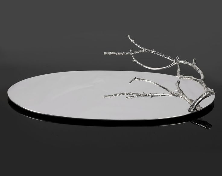 Branch Tray in Sterling Silver