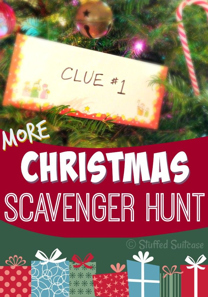 Ready for fun on Christmas morning? Start a new family tradition by hiding a gift and giving your kids Christmas Scavenger hunt clues! Fun for all! StuffedSuitcase.com