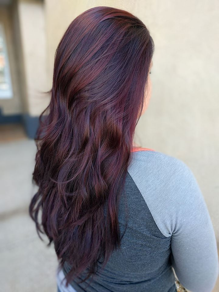 colored hair styles 25 best ideas about chocolate cherry hair on 1724